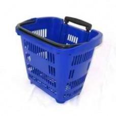 Корзина-тележка из пластика на 2-х колесах PBT34